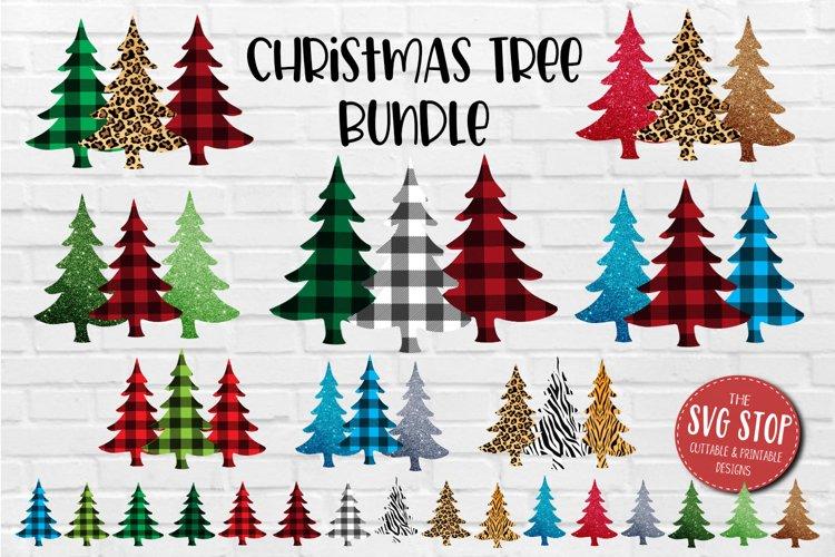 Christmas Trees Sublimation Bundle Buffalo Plaid Cheetah PNG
