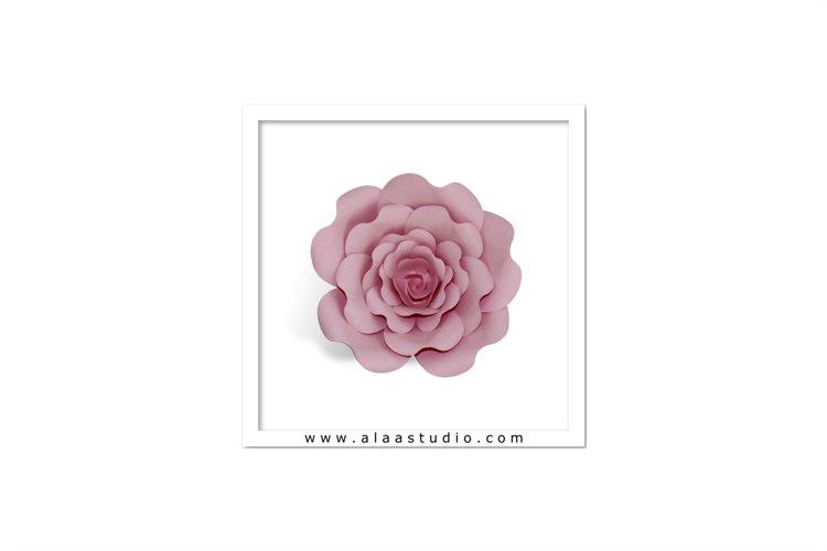 3D Large rose flower template 1, SVG, PDF, SILHOUETTE STUDIO Formats