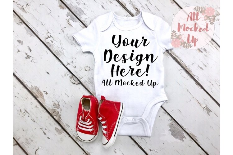 ARB Blanks Baby Bodysuit Sublimation Shirt Mock Up 7/19 example image 1