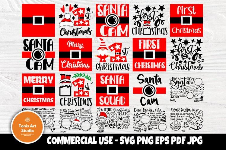 Christmas SVG Bundle, Dear Santa Tray Svg, 1st Christmas Svg example image 1