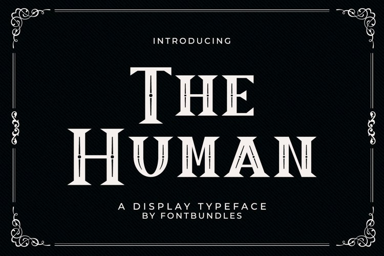 Web Font The Human example image 1