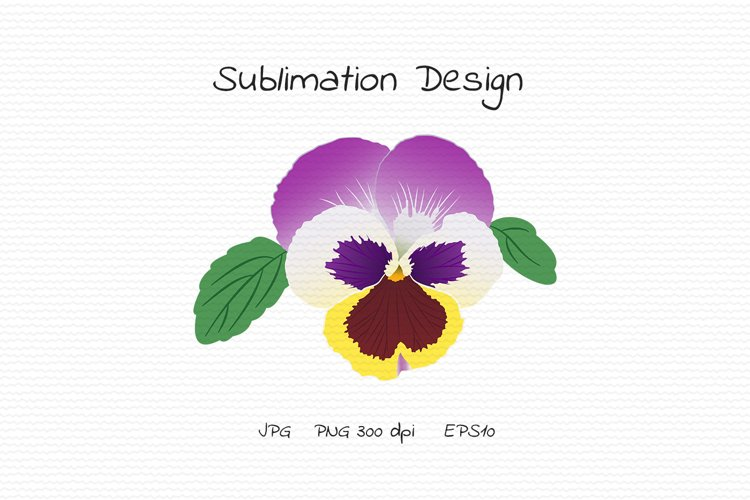 Pansy Flower Bud - Sublimation Design example image 1