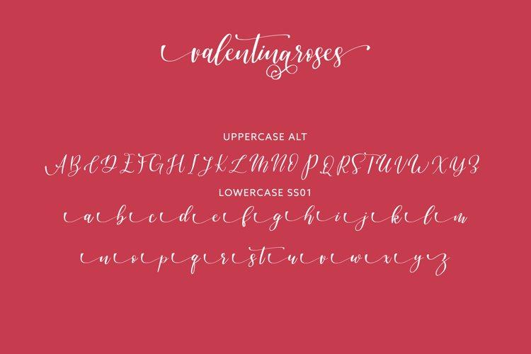 Valentinaroses Lovely Script Font example 4