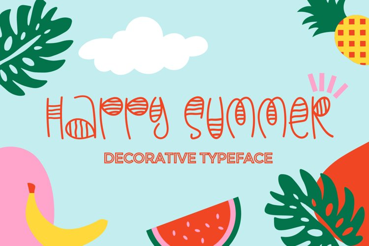 Happy Summer - Decorative Display Font