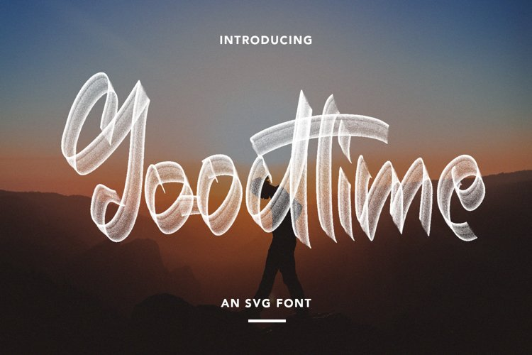 Goodtime - An SVG Font example image 1