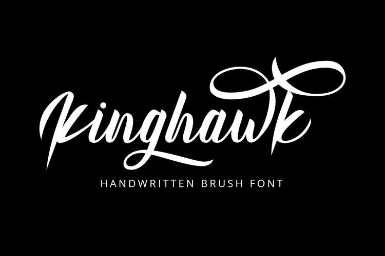 Kinghawk - Handwritten Brush Font example image 1