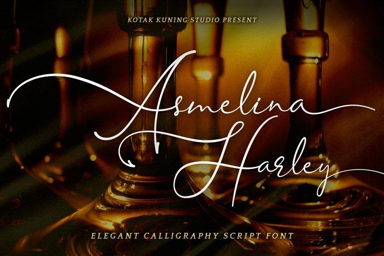 Beautiful Script - Asmelina Harley Font example image 1