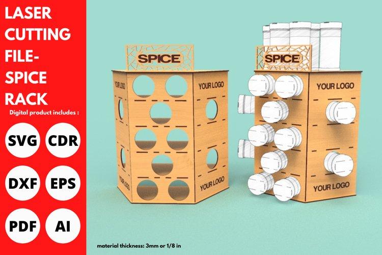 Spice Rack - SVG - Laser cutting file