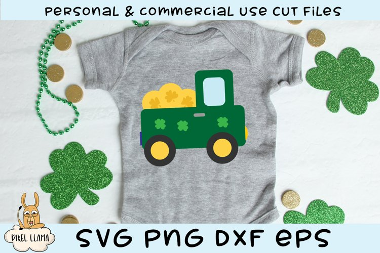 Pot Of Gold Truck St Patricks SVG Cut File example image 1