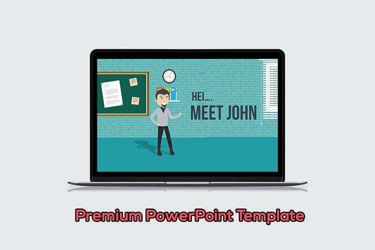 Businessman 1 Cartoon PowerPoint Template