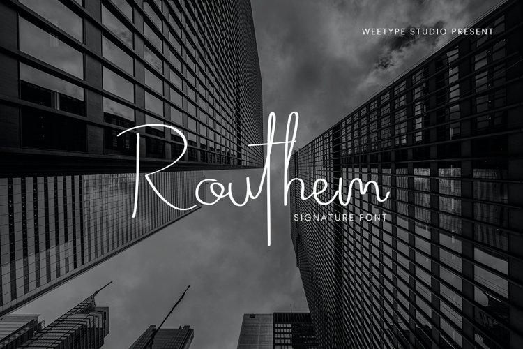 Routhem - Signature Script example image 1