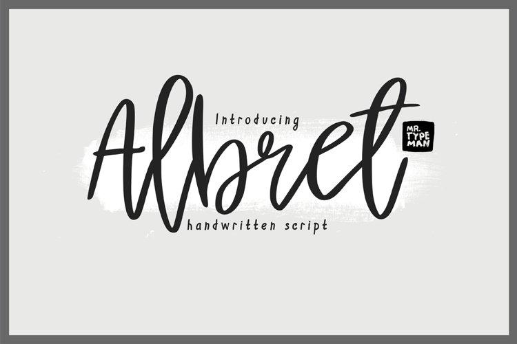 Albret || Multilingual Handwritten Script Font example image 1
