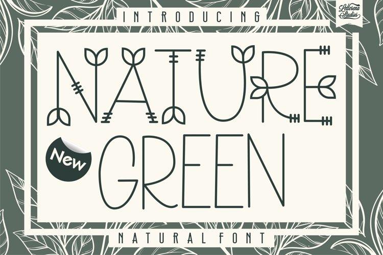 Nature Green - Nature Sans Serif Font example image 1
