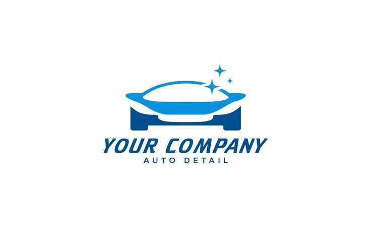 blue car wash logo and sport car modern logo designs example image 1