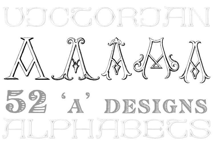 Victorian Alphabets A