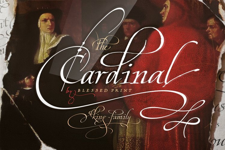 Cardinal - Italic script trio example image 1