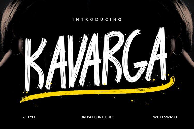 KAVARGA - Brush Font example image 1