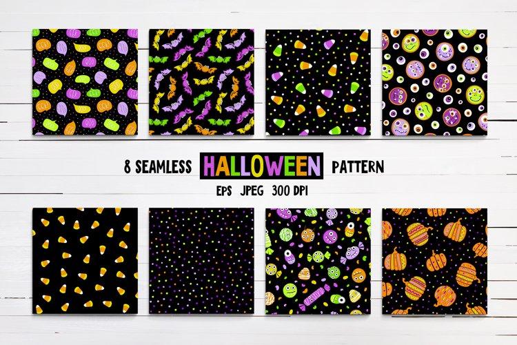 8 seamless Halloween pattern
