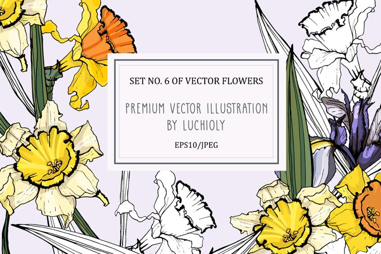 Set No. 6 of vector flowers