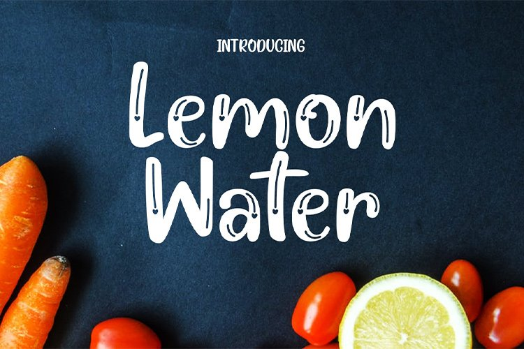 Lemon Water || love font example image 1