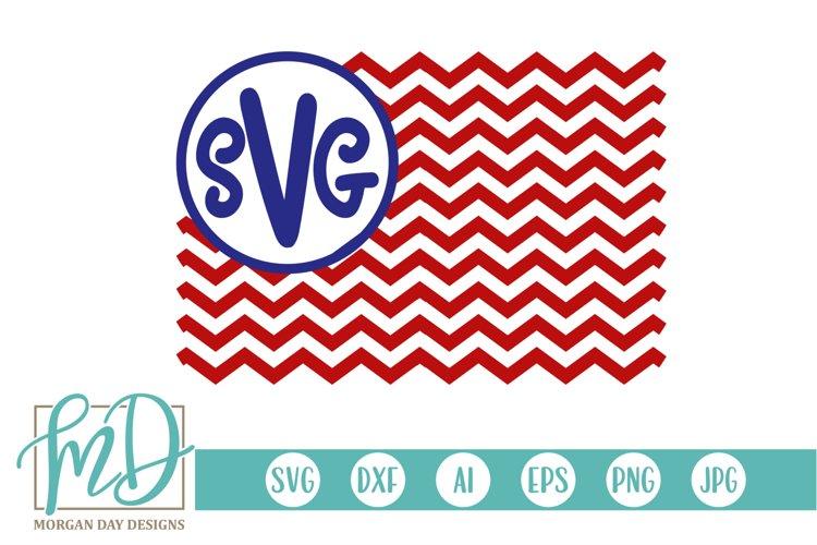 4th of July - Patriotic - American Flag Monogram SVG example image 1