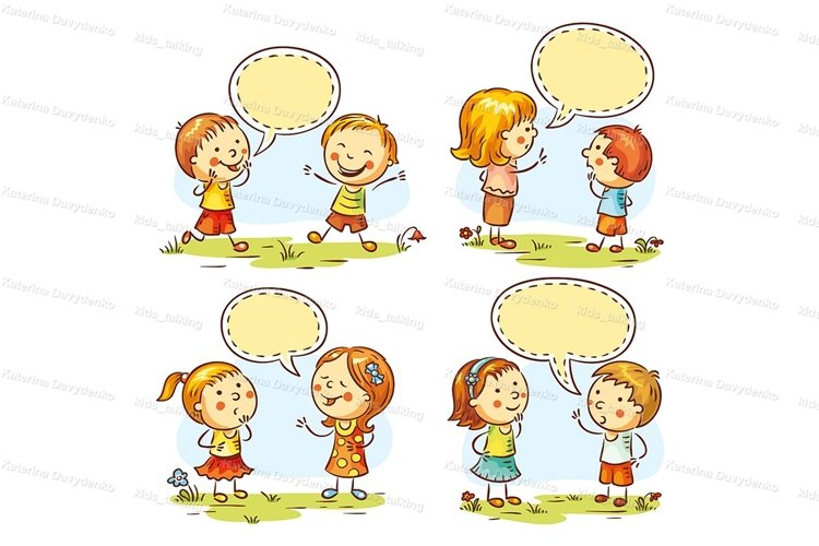 Kids talking and showing emotions example image 1