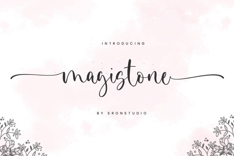 Magistone - Calligraphy Font example image 1
