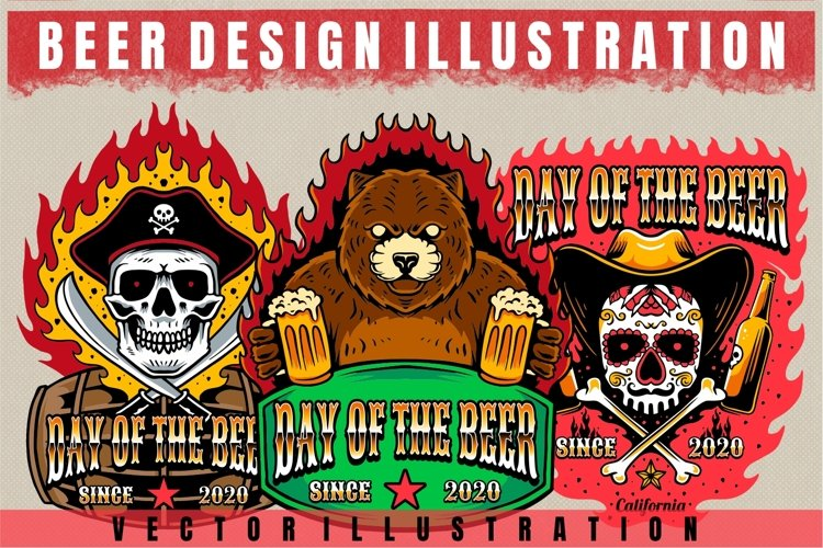 vector beer design illustration example image 1