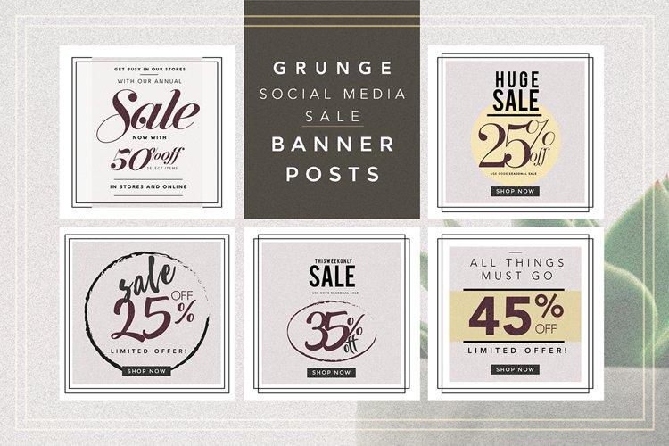 GRUNGE Social media sale banner pack