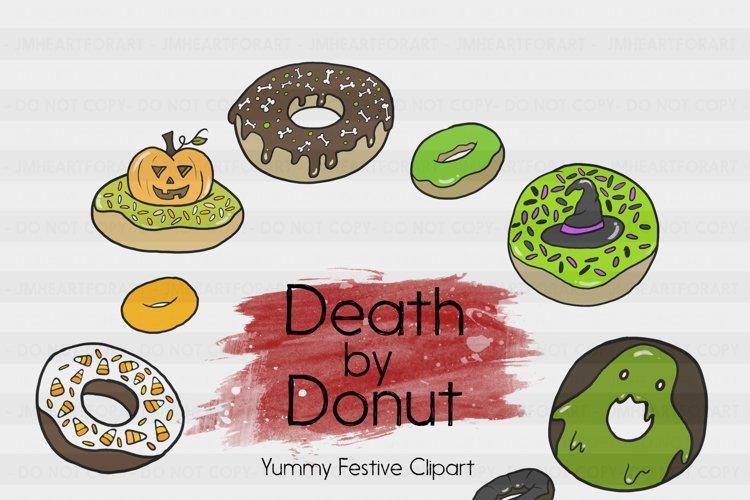 Fall Clipart-Halloween Clipart-Bat Clipart-Donut Clipart-Ghoul Clipart-Clipart-Digital Clipart-Halloween-Pumpkin-Halloween Donuts-Frosting