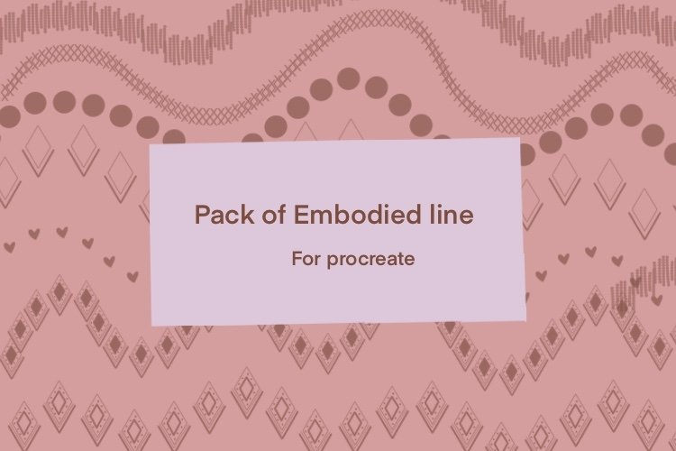 Pack of Embodied brushes stamp