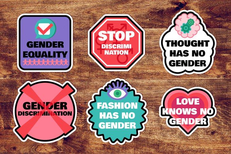 Gender Stickers Set