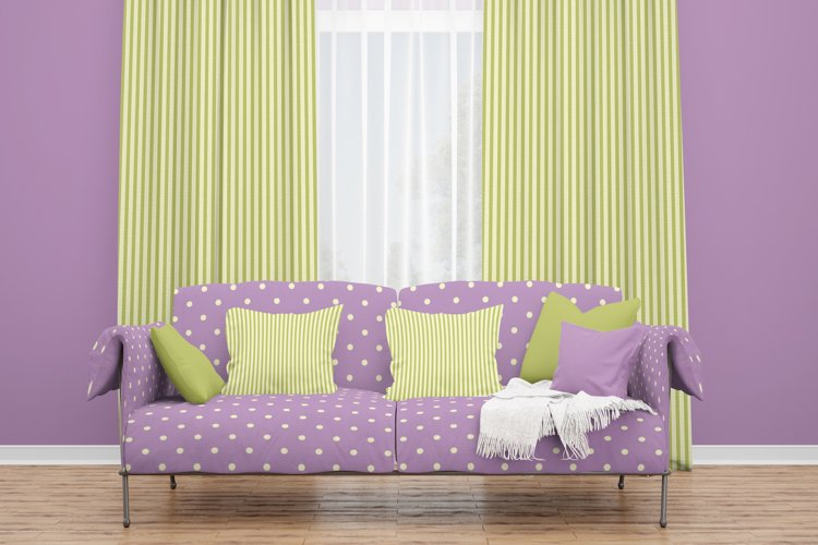 50 Romantic Green & Purple JPG & 20 PS Patterns pat.