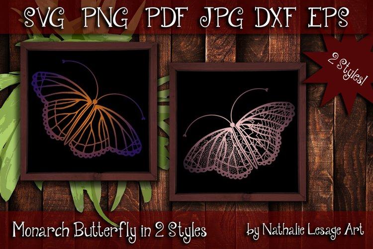 Monarch Butterfly SVG Mandala Designs Cut File For Weeding