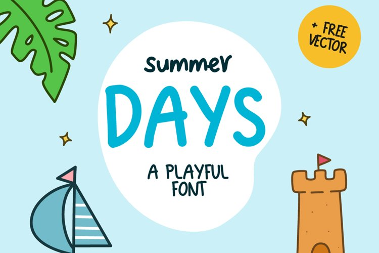 Summer Days Playful Font example image 1