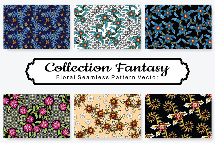Set Of Fantasy Floral Vector Pattern Vol.5 example image 1