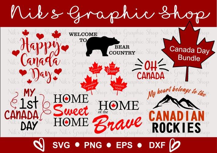 Canada Day SVG, Happy Canada Day SVG, Canada svgs example image 1