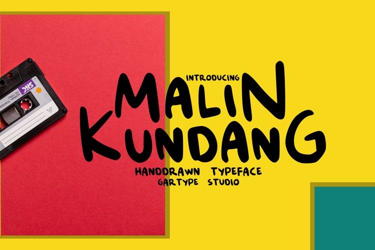 Malin Kundang - Fun Comic Font // Web Font example image 1