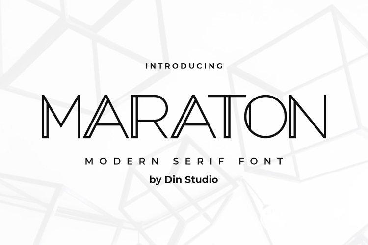 Maraton-Modern Serif Font example image 1