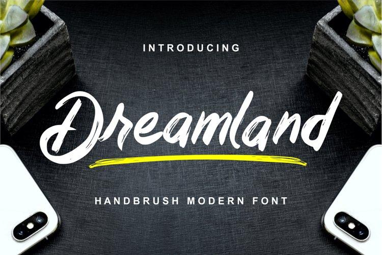 Dreamland - Handbrush Modern Font example image 1