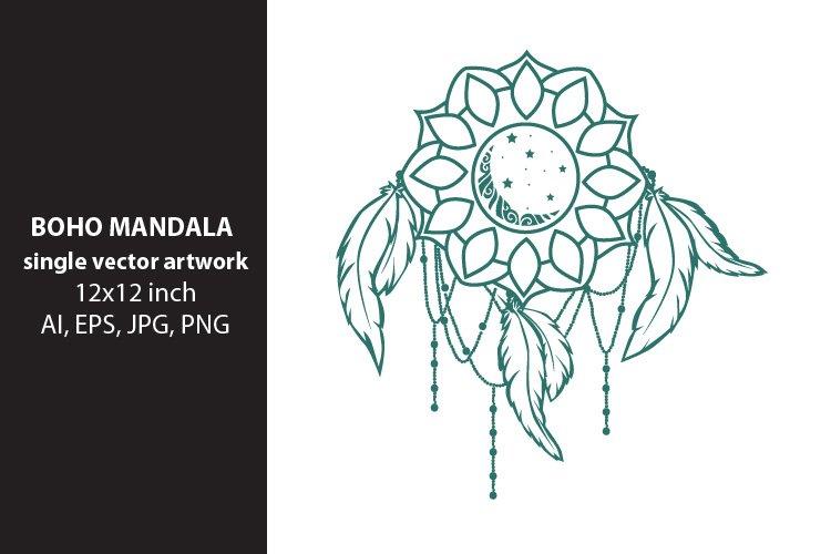 dream mandala- single vector artwork example image 1