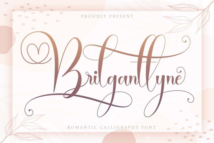 Brilganttyne - Modern Calligraphy Font example image 1