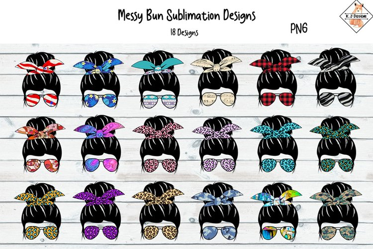 Messy Bun Sublimation Bundle