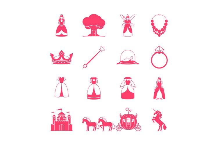 Princess fairytale icon set example image 1