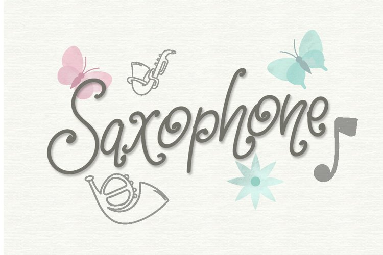 Saxophone - Quirky Handwritten Font example image 1