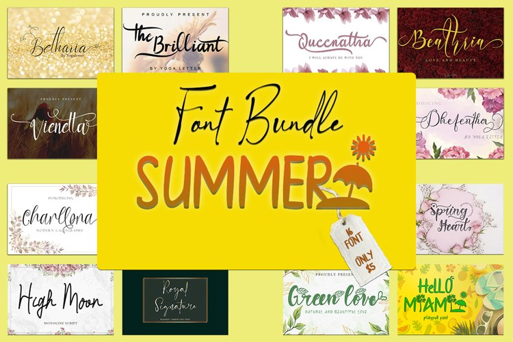 Summer Font Bundle example image 1