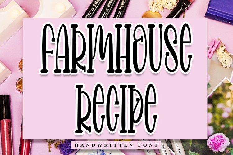 Farmhouse Recipe - Handwritten Font example image 1
