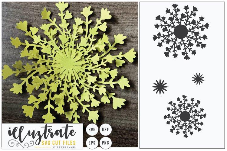 Paper Cut Flowers SVG Cut File - Paper Cutting Bundle DIY - Free Design of The Week Design8
