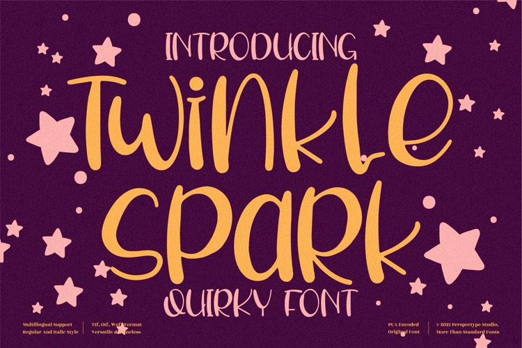 Twinkle Spark - Quirky Handwritten Font example image 1