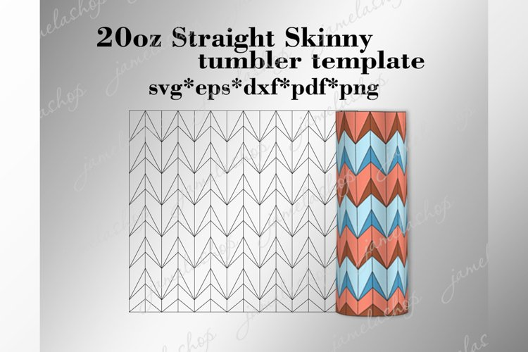 20 oz straight skinny tumbler template svg, Arrows tangram